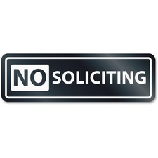 No Soliciting Windo
