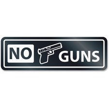 No Guns Window Sign