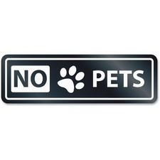 No Pets Window Sign